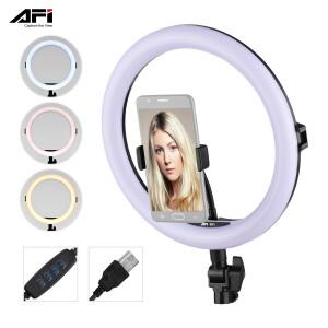 Кольцевой светодиодный осветитель 12Вт 3200-6500К AFI R11