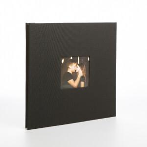 Фотоальбом черный 40 белых страниц Albonny AMP-2728-40-Black