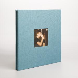 Фотоальбом голубой 40 белых страниц Albonny AMP-2728-40-Blue