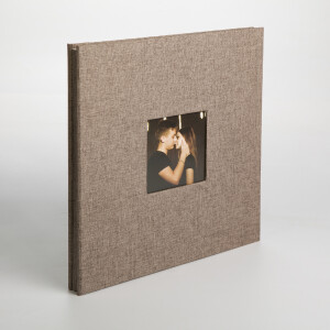 Фотоальбом коричневый 40 белых страниц Albonny AMP-2728-40-Brown