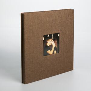 Фотоальбом шоколад 40 белых страниц Albonny AMP-2728-40-Chocolate