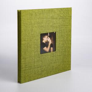 Фотоальбом зеленый 40 белых страниц Albonny AMP-2728-40-Green