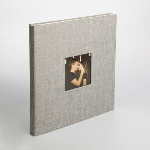 Фотоальбом серый 40 белых страниц Albonny AMP-2728-40-Grey