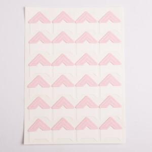 Уголки для фотоальбомов розовые Albonny PC-019 Pink