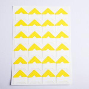 Уголки для фотоальбомов желтые Albonny PC-021 Yellow