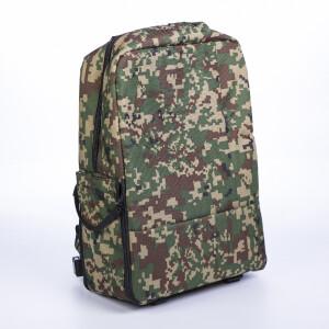 Рюкзак-трансформер для фотоаппарата цвет зеленый камуфляж пиксельный Fotokvant Backpack-01 Green Сamouflage