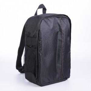 Рюкзак для фототехники цвет черный с оранжевой строчкой Fotokvant GBK-002-BO