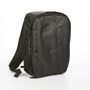 Рюкзак для фототехники цвет черный с фиолетовой строчкой Fotokvant GBK-002-BP