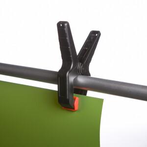 Комплект 4х зажимов пластиковых малых 50 мм прищепки Fotokvant CL-P50 Kit