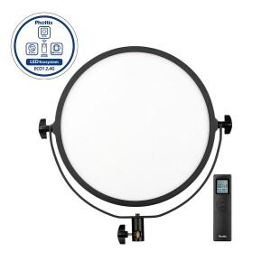 Cветодиодный осветитель c пультом д/у 50Вт 3200K-5600K Nuada R3 II Video LED Light Phottix (81429)