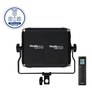 Светодиодный осветитель с пультом д/у 50Вт 3200-5600К Kali50 Studio LED Phottix (81443)
