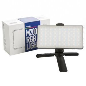 Накамерная светодиодная RGB панель 10Вт 3200K-5600K с аккумулятором и мини-штативом Phottix (81419) M200R RGB Light LED Panel
