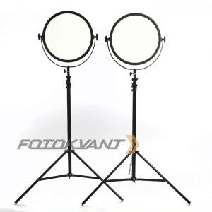 Комплект светодиодного освещения 3200-5600 c пультом д/у Fotokvant Interview 360 kit