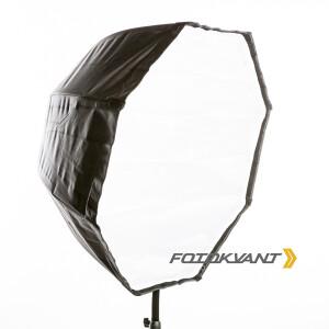 Комплект зонт-софтбокс с отражающим серебряным куполом 80 см и съемным диффузором Fotokvant U-80SO