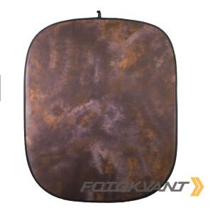 Фон складной на каркасе 1,8 х 2,1м коричневый пятнистый Fotokvant BG-1821 Brown Tie-dye