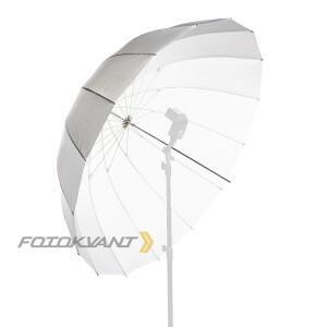 Параболический глубокий фотозонт белый 130 см на просвет Fotokvant U-130T Para