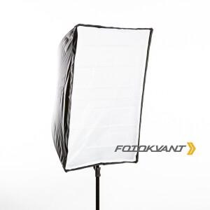 Комплект зонт-софтбокс с отражающим серебряным куполом 60 х 90 см и съемным диффузором Fotokvant U-6090SO
