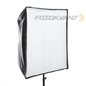 Комплект зонт-софтбокс с отражающим серебряным куполом 80 х 80 см и съемным диффузором Fotokvant U-8080SO