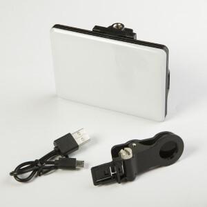 Накамерная светодиодная панель 4Вт 3200K-5600K с аккумулятором и креплением для смартфона Fotokvant SL-60Al