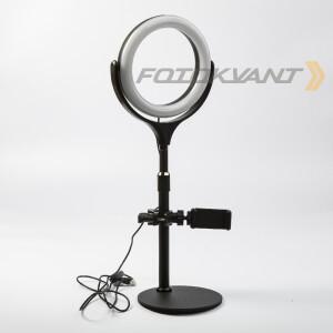 Комплект кольцевой светодиодный осветитель USB 7-10Вт 2900-5600К Fotokvant LED F-537A1 Black KIT