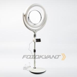 Комплект кольцевой светодиодный осветитель USB 10Вт 2900-5600К Fotokvant F-539AJ White KIT