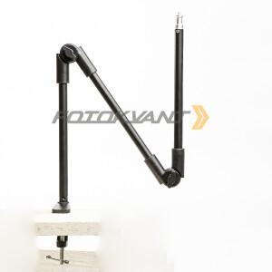 Кронштейн-крепление на струбцине для легких камер и освещения 3х коленное Fotokvant KPP-08
