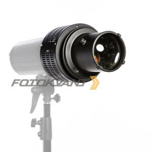 Оптический рефлектор с масками гобо и цветными фильтрами байонет Broncolor Pulso G Fotokvant RO-02BP