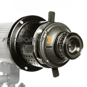 Оптический рефлектор с масками гобо и цветными фильтрами байонет Hensel Fotokvant RO-03 50 mm