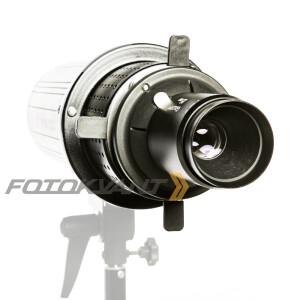 Оптический рефлектор с масками гобо и цветными фильтрами байонет Hensel Fotokvant RO-03 85 mm